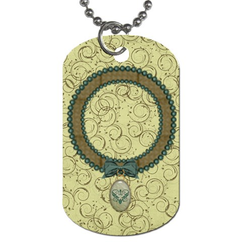 Modern Heritage Elegant Dog Tag By Bitsoscrap   Dog Tag (one Side)   Z442hrzreo43   Www Artscow Com Front