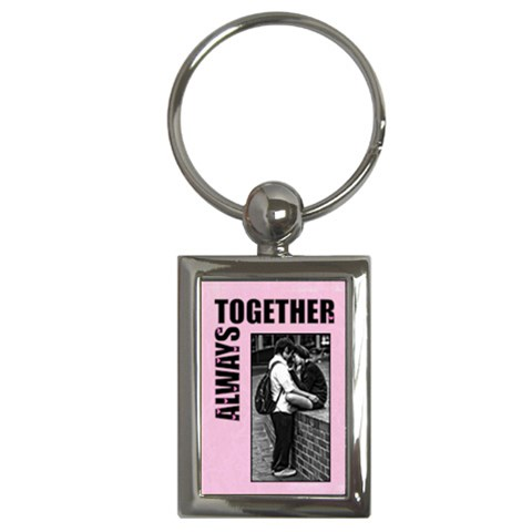 Always Together   Keys Chain By Carmensita   Key Chain (rectangle)   0ex11ds03aa3   Www Artscow Com Front