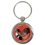 Red heart - Key chain - Key Chain (Round)