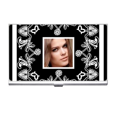 Art Nouveaublack & White Business Card Holder By Catvinnat   Business Card Holder   Jm470cu4r7q5   Www Artscow Com Front