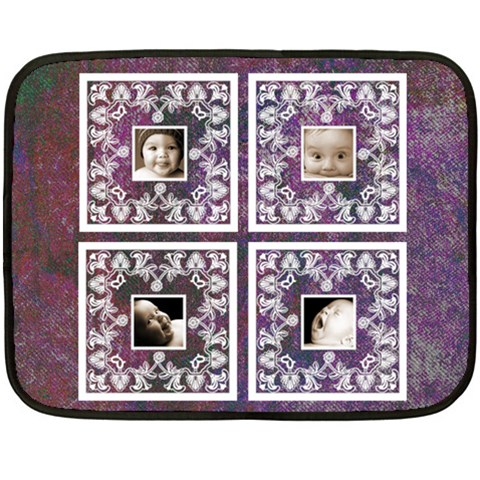 Purple Baby Lace Mini Fleece By Catvinnat   Fleece Blanket (mini)   C3ixy2zfanam   Www Artscow Com 35 x27 Blanket