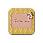 drink me coasters - Rubber Square Coaster (4 pack)