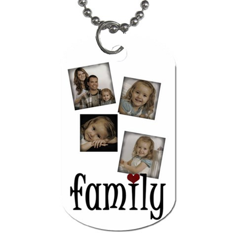 4 Photo Family Tag By Amanda Bunn   Dog Tag (one Side)   Jyxqfnbpqlhj   Www Artscow Com Front