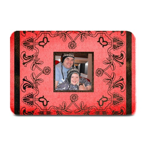 Christmas  Lace Black & Red Placemat  By Catvinnat   Plate Mat   1u61fg4imie6   Www Artscow Com 18 x12 Plate Mat - 1