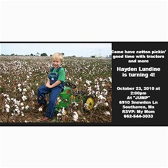 Hayden s 4th Birthday Invitation By Lisa Faulkenbery   4  X 8  Photo Cards   Mvue4s7gxb3n   Www Artscow Com 8 x4 Photo Card - 1