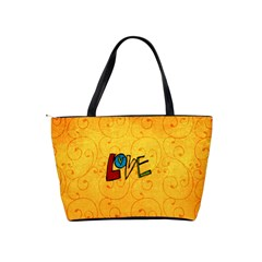 Love Yellow Bag By Albums To Remember   Classic Shoulder Handbag   Fbit3myz0z2e   Www Artscow Com Back