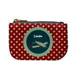 Red & Blue Plane Mini Coin Purse
