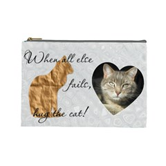 Cat Large Cosmetic Bag By Lil    Cosmetic Bag (large)   P8f4i46vmp97   Www Artscow Com Front