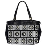 Art Nouveau Multi Frame Black & White oversized bag - Oversize Office Handbag (2 Sides)