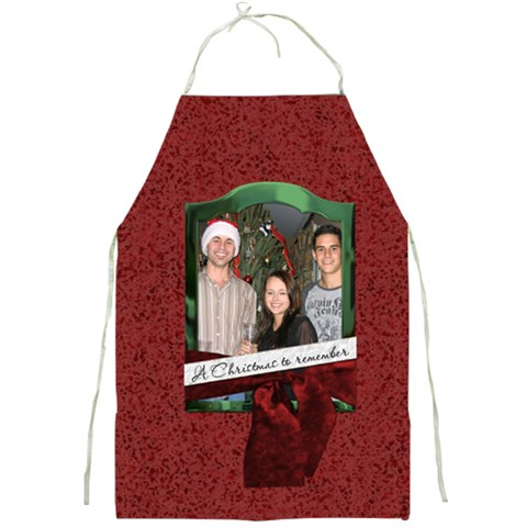 A Christmas To Remember Apron By Lil    Full Print Apron   Vobuu0a343gv   Www Artscow Com Front