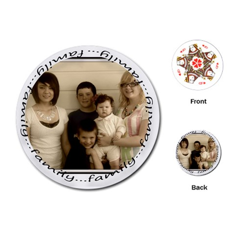 Round Family Cards By Amanda Bunn   Playing Cards (round)   Uy9j9f8atczp   Www Artscow Com Front