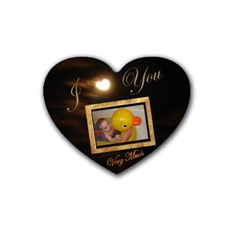Heart Coaster4 By Ellan   Rubber Coaster (heart)   Mwp11iujdoju   Www Artscow Com Front