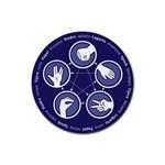 posavasos piedra papel tijera lagarto spock - Rubber Coaster (Round)