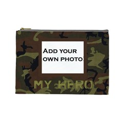 Cosmetic Bag L   My Hero Camo By Jen   Cosmetic Bag (large)   Ytuf5qpb21a4   Www Artscow Com Front