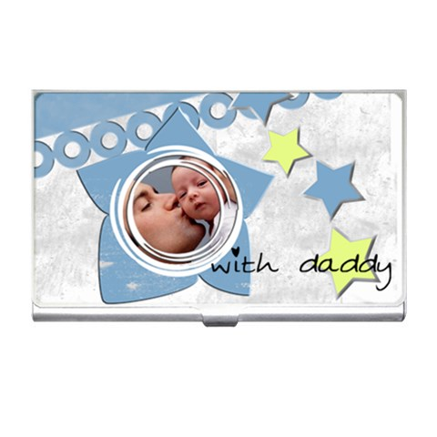 With Daddy   Business Card Holder By Carmensita   Business Card Holder   Ly6lhge8qn1d   Www Artscow Com Front