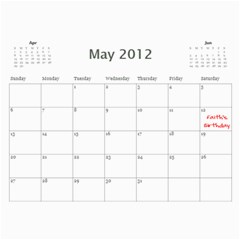 Paul Calendar By Lia Simcox   Wall Calendar 11  X 8 5  (18 Months)   Ufs4xcxmew8a   Www Artscow Com May 2012