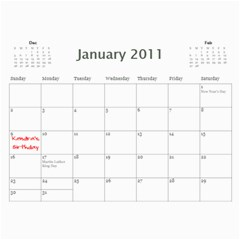 Paul Calendar By Lia Simcox   Wall Calendar 11  X 8 5  (18 Months)   Ufs4xcxmew8a   Www Artscow Com Jan 2011