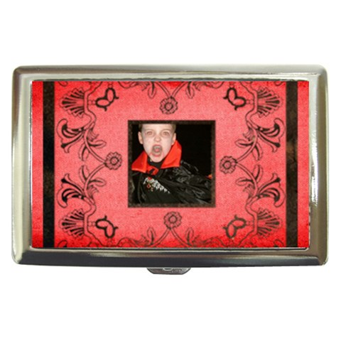 Classic Red Cigarette Money Case  By Catvinnat   Cigarette Money Case   Jbpzyoosl1dx   Www Artscow Com Front