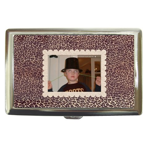 Leopard Skin Cigarette Money Case  By Catvinnat   Cigarette Money Case   U7nwghpifatm   Www Artscow Com Front