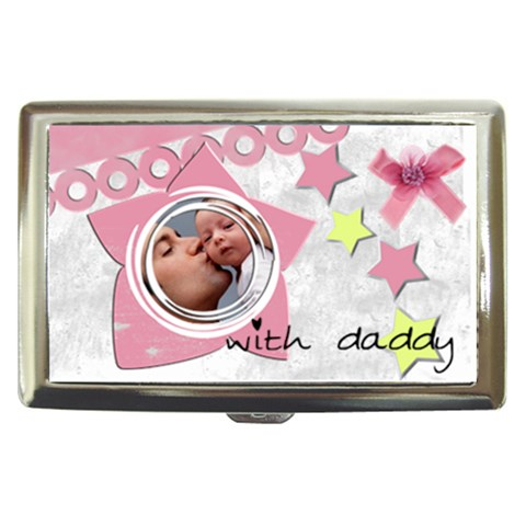 Girl With Daddy   Cigarrette Money Case By Carmensita   Cigarette Money Case   7il8be8nofx0   Www Artscow Com Front
