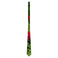 Art Noiveau Poppies Tie By Catvinnat   Necktie (two Side)   L7wdwnac3j40   Www Artscow Com Back