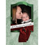 A Christmas To Remember Card - Greeting Card 5  x 7