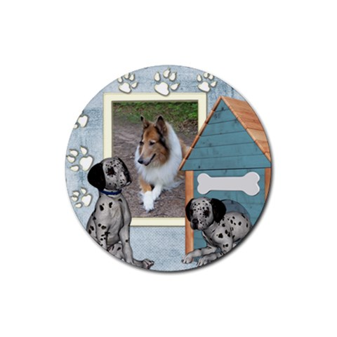 Friends 1 By Snackpackgu   Rubber Coaster (round)   P4qow8l95pfk   Www Artscow Com Front