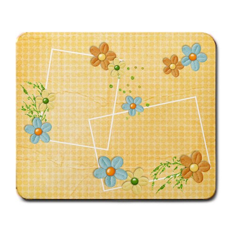 Orange Flowers Mousepad By Mikki   Large Mousepad   Kazkj19fzhox   Www Artscow Com Front