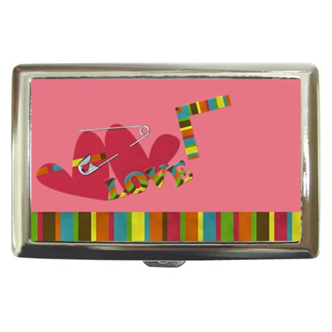 Love   Cigarette Money Case By Carmensita   Cigarette Money Case   Ub81sy7juw0d   Www Artscow Com Front