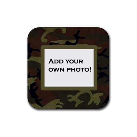 Camouflage Coaster By Jen   Rubber Coaster (square)   Nftr76nwb3vo   Www Artscow Com Front