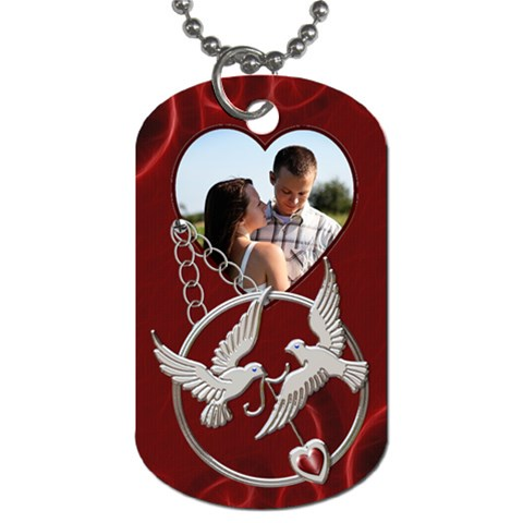 Lovebirds Dog Tag By Lil    Dog Tag (one Side)   9l763fiuwdxl   Www Artscow Com Front