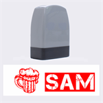 Beer Sam - Rubber stamp - Name Stamp