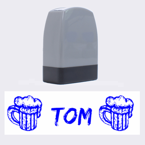 Beer  Tom   Rubber Stamp By Carmensita   Name Stamp   4kubcz55h2r3   Www Artscow Com 1.4 x0.5  Stamp