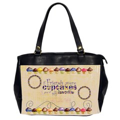 Chocolate Cupcakes Friends  Oversized Handbag By Catvinnat   Oversize Office Handbag (2 Sides)   8sokhoh14n4v   Www Artscow Com Front