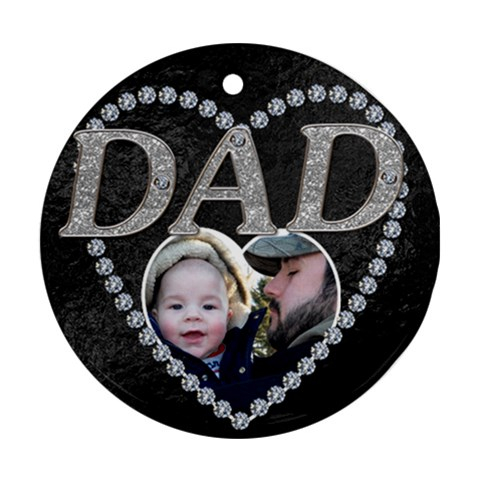 Dad Christmas Ornament By Lil    Ornament (round)   Ussc4pg8qso8   Www Artscow Com Front