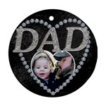 Dad Christmas Ornament - Ornament (Round)