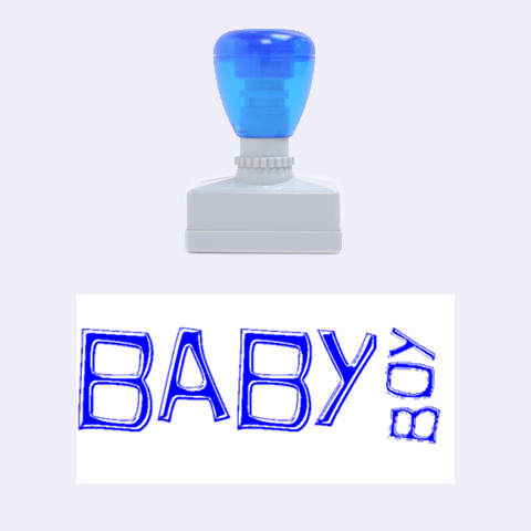 Baby Boy Blue Rubber Stamp By Catvinnat   Rubber Stamp (medium)   2zi9apcb0i3u   Www Artscow Com 1.34 x0.71  Stamp