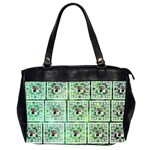 Art Nouveau Multi Frame green lace oversized bag - Oversize Office Handbag (2 Sides)