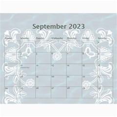 2015 Art Nouveau Pool Cool Calendar By Catvinnat   Wall Calendar 11  X 8 5  (12 Months)   Ah69kignwtav   Www Artscow Com Sep 2015