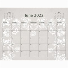 Art Nouveau Moccachino Calendar 2015 By Catvinnat   Wall Calendar 11  X 8 5  (12 Months)   0sqgy7c5yzj5   Www Artscow Com Jun 2015