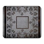 grey lace mousemat - Large Mousepad