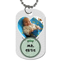 Sweet Baby Boy Dog Tag By Lil    Dog Tag (two Sides)   2jvyzs4pq6jg   Www Artscow Com Back