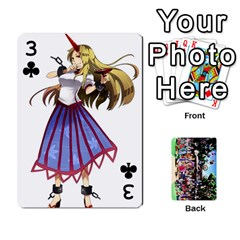 Touhou Playing Cards By Keifer   Playing Cards 54 Designs   7dgrygn28gyi   Www Artscow Com Front - Club3