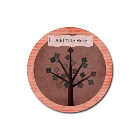 Harmony Tree Round Coaster By Bitsoscrap   Rubber Round Coaster (4 Pack)   67v1a3ncl0pq   Www Artscow Com Front