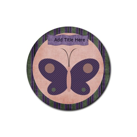 Harmony Butterfly Round Coaster By Bitsoscrap   Rubber Round Coaster (4 Pack)   Lqccr4ou77f2   Www Artscow Com Front