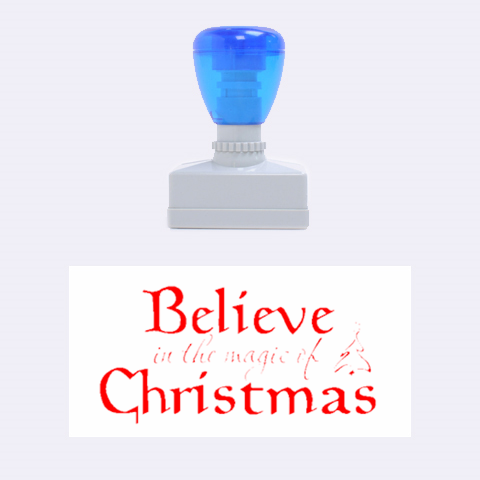Christmas Stamp By Jorge   Rubber Stamp (medium)   Ma9hnwkfoj8k   Www Artscow Com 1.34 x0.71  Stamp
