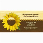 Sunflower Photo Card - 4  x 8  Photo Cards