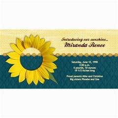 Sunflower Photo Card2 By Mikki   4  X 8  Photo Cards   Fcwxkfn19n06   Www Artscow Com 8 x4 Photo Card - 5