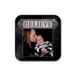 Believe Coaster - Rubber Coaster (Square)