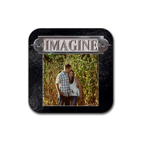Imagine Coaster By Lil    Rubber Coaster (square)   3w89ij8wks2p   Www Artscow Com Front